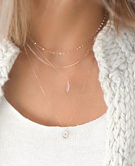 GLIMMER Halskette  14K Roségold