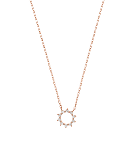 DIAMOND NECKLACE  14K ROSE GOLD