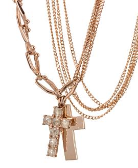 CROSS Halskette  14K Roségold