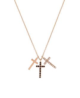 CROSS Halskette|14K Roségold