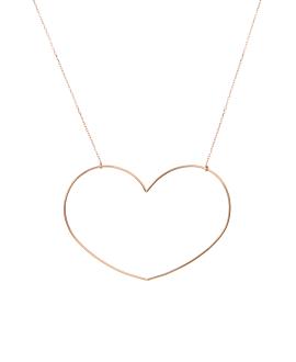 OPEN HEART|Halskette Rosé