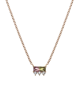 EDELSTEIN Halskette|14K Roségold