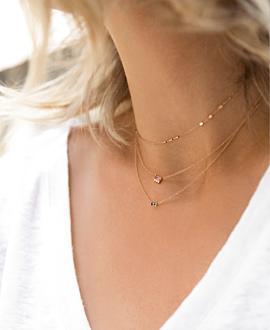 EDELSTEIN Halskette 14K Roségold