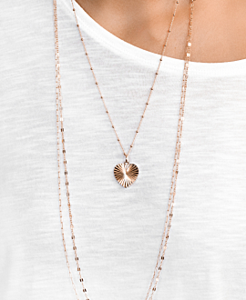 CHAIN LINK  NECKLACE ROSE