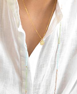 SAUTOIR Halskette Pastell