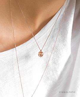 GLOBE Halskette Silber
