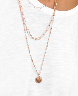SHELL DROP NECKLACE ROSE