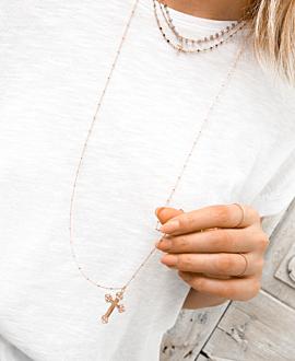 FAITH Halskette Rosé