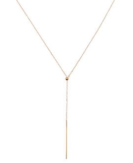 Y-Halskette|10K Roségold