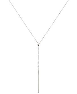 Y-Halskette|10K Weißgold