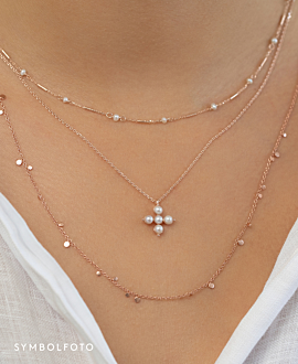 PEARL CROSS  Halskette Gold