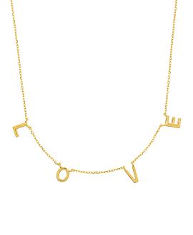 L.O.V.E.|Halskette Gold