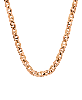 CURB CHAIN NECKLACE ROSE