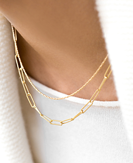 CHAIN LINK Halskette Gold