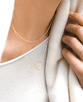 CIRCLES Halskette Gold