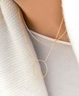 CIRCLE  Halskette Gold