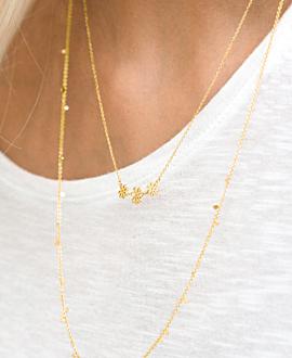 VERGISSMEINNICHT  Halskette Gold