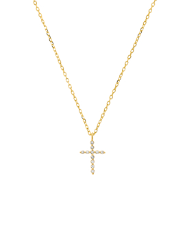 SPARKLING CROSS  Halskette Gold
