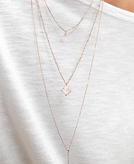 Y-Halskette  Rosé