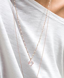 CHLOE ROSE QUARTZ  Halskette Rosé