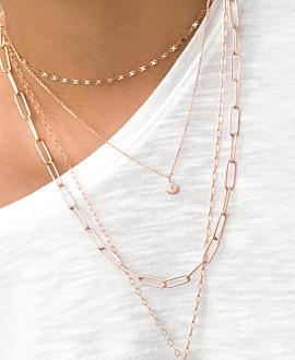 SECRET SHELL Halskette Rosé