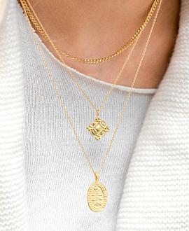 INES  Halskette Gold