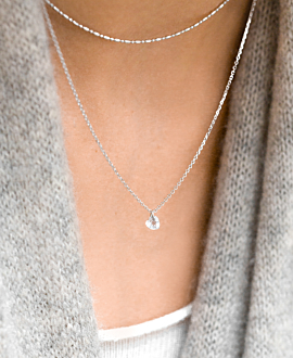 FLYING HEART NECKLACE SILVER
