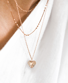 RADIANT HEART  NECKLACE ROSE