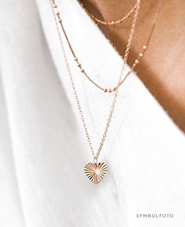 RADIANT HEART  Halskette Silber