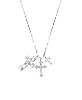 TRIPLE CROSS|Halskette Silber