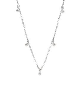 SHINY BEADS  Halskette Silber