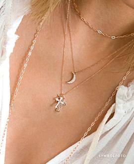 TRIPLE CROSS Halskette Silber