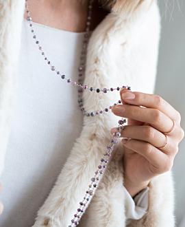 EDELSTEIN  Halskette Silber