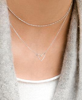 PURE LOVE Halskette Silber