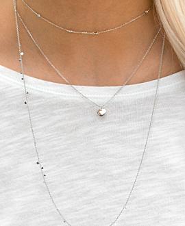 MI AMORE  Halskette Silber