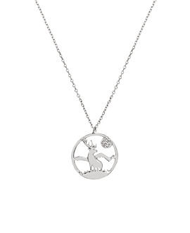 HIRSCH|Halskette Silber