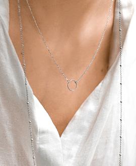CIRCLE  Halskette Silber