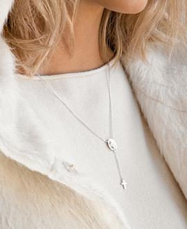 MADONNA CROSS Halskette Silber