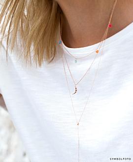 SPARKLING MOON  Halskette Silber