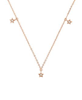 TOPAZ STAR|Halskette Rosé