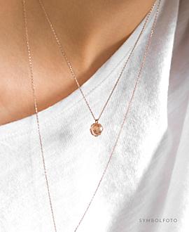 GLOBE Halskette Rosé
