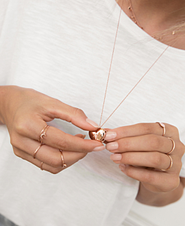 SECRET HEART Halskette Rosé