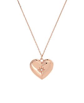 SECRET HEART|Halskette Rosé