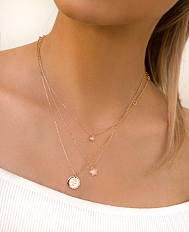 MONDSTEIN Halskette Rosé