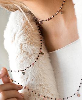 EDELSTEIN Halskette Rosé