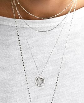 SUN RAYS  Halskette Silber