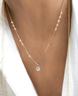 LUNAR Halskette Gold