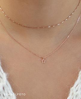 MINI WISHING STAR  Halskette Silber