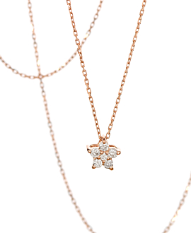 DIAMOND Halskette  10 K Roségold