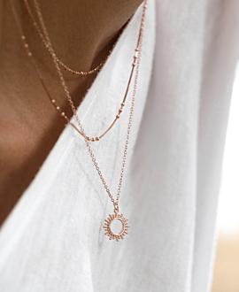 SOLE Halskette Rosé